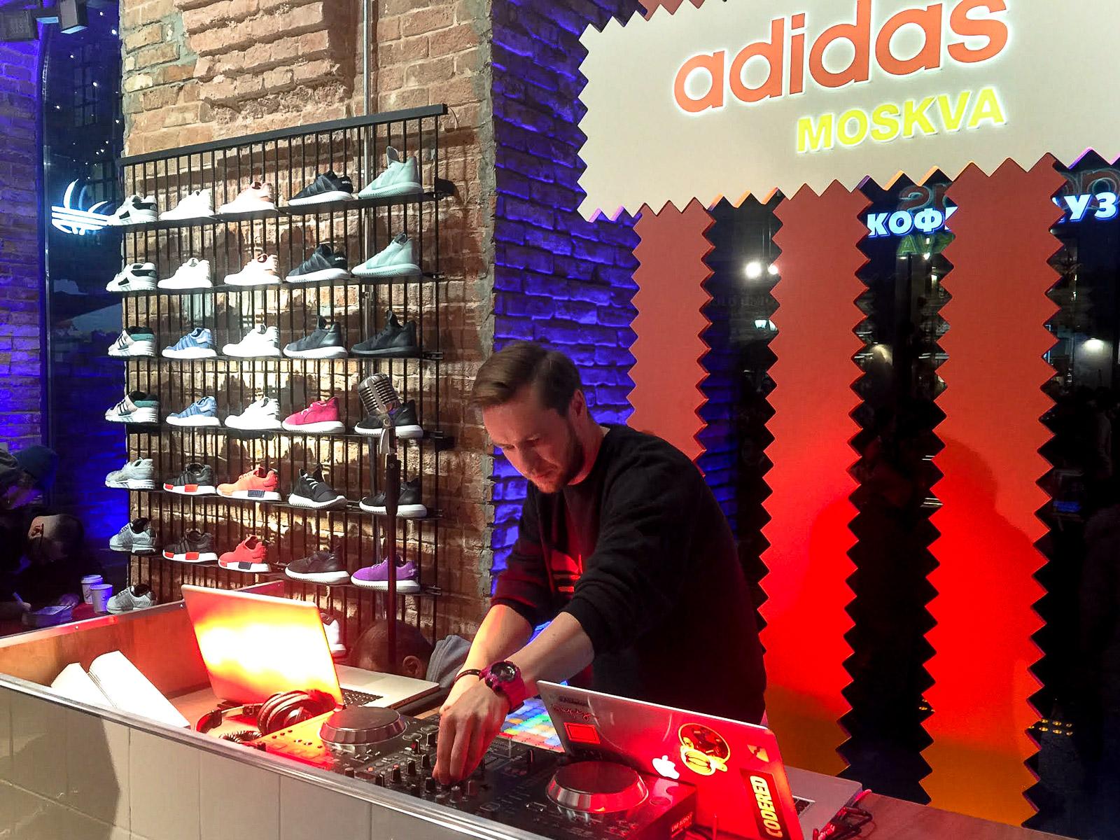 Открытие adidas Originals Moscow